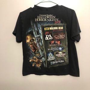 Horror nights 2013 zombie t shirt black worn small